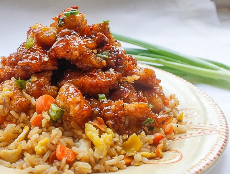 General Tso Chicken and Fried Rice