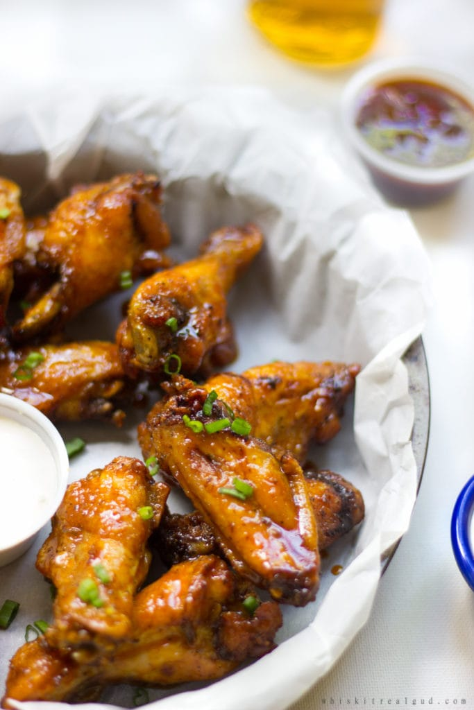 Carrot and Honey Ginger Wings