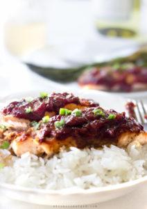 Salmon with Rhubarb Glaze