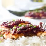 Salmon With Rhubarb Sweet Chili Sauce