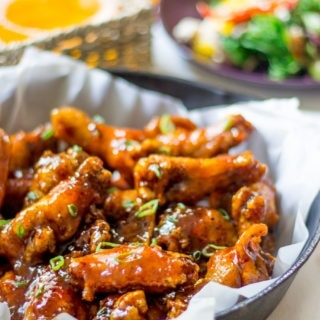 Peach Chipotle Honey Wings