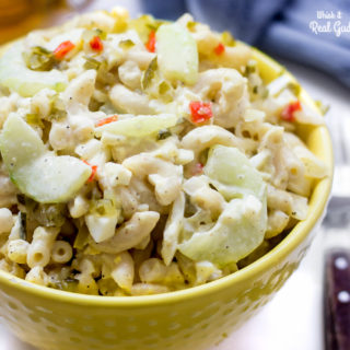 Creamy Cucumber and Egg Macaroni Salad