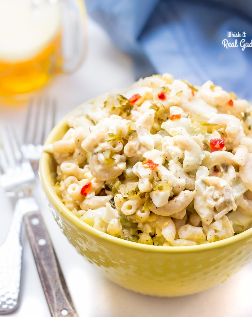 This creamy macaroni salad is not your traditional salad. This one has crunchy cucumbers and hard boiled eggs. A Perfect summer bbq food! This is one recipe you'll want to make!