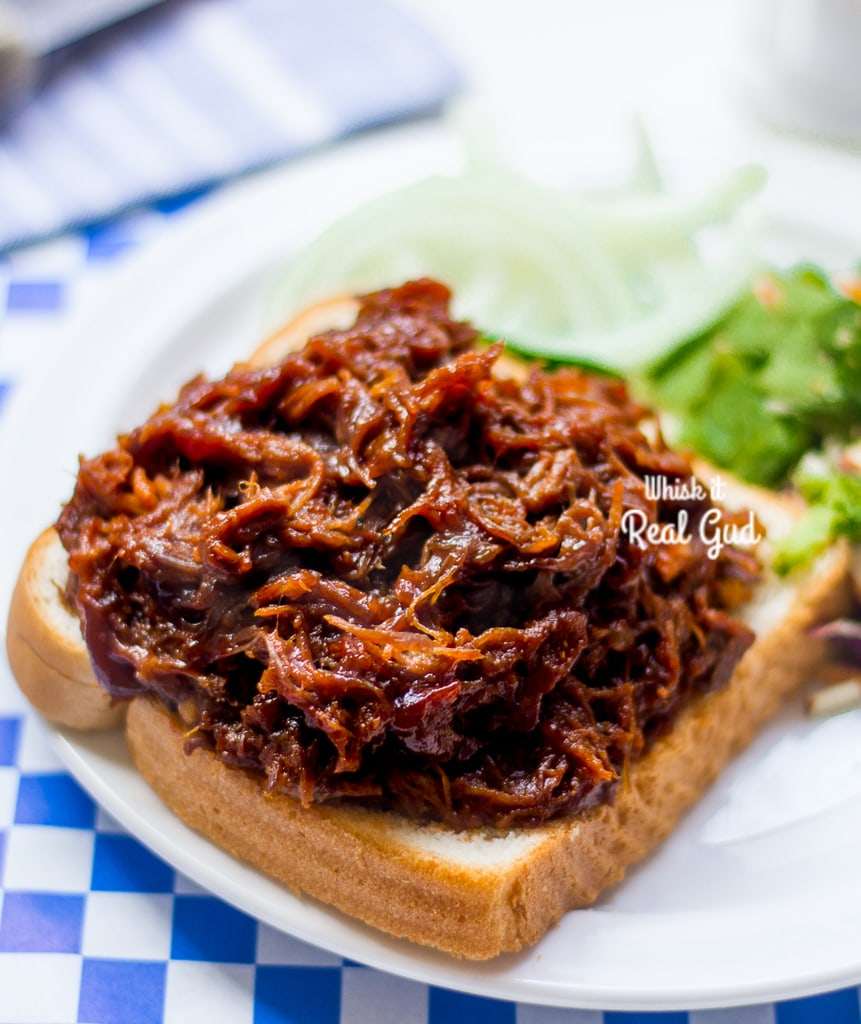 Tender, juicy, saucy, flavorful and easy Slow Cooker Beef BBQ Sandwich!