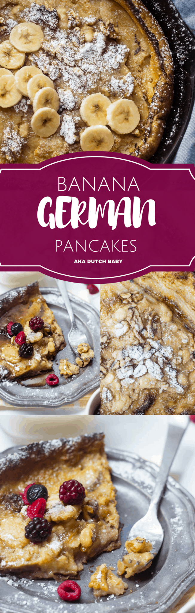 Brown Butter Banana Dutch Baby | Whisk It Real Gud