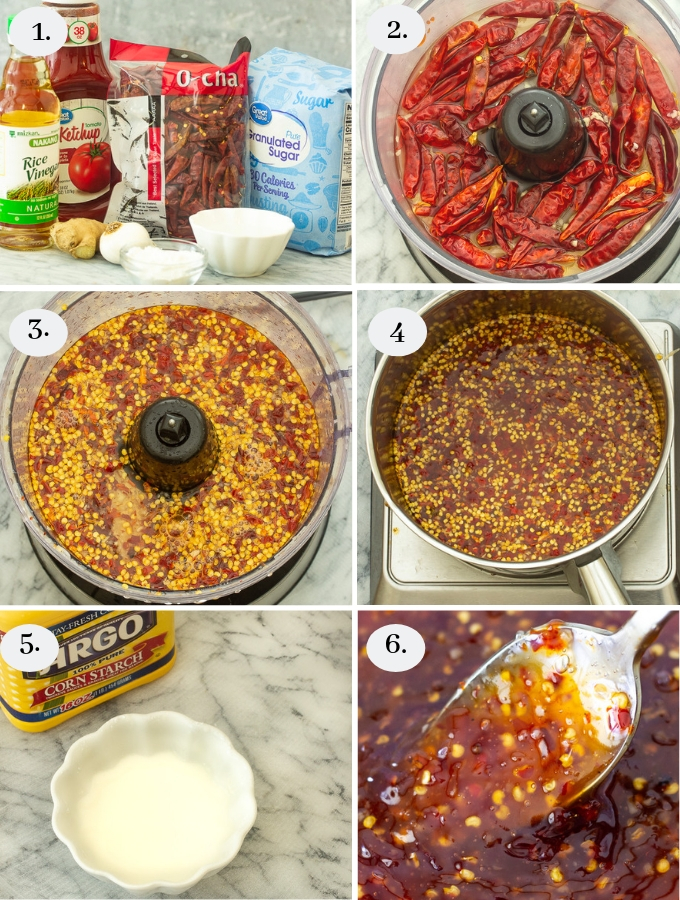 a step by step on how to make sweet thai chili sauce