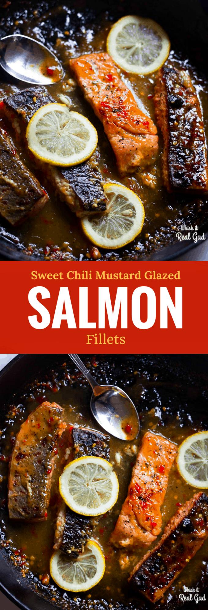 Chrissy Teigen sweet-chili-mustard-glazed-salmon-fillet