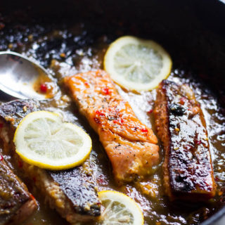 Chrissy Teigen's Sweet Chili and Mustard Glazed Salmon Fillets
