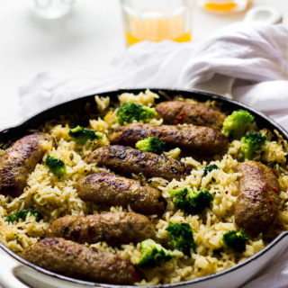 BBusy day? Kids hungry? Too tired to cook? Or maybe you want to learn how to cook easy recipes. I have the perfect solution! Learn how to make this delicious One Skillet Baked Sausage Broccoli and Rice. No one will ever know that you only used a few staple ingredients to make this flavor packed one pan dinner.