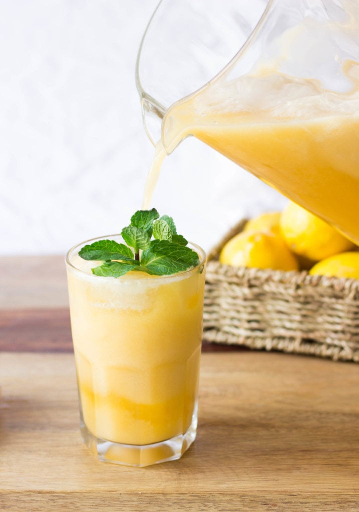 Tropical Peaches and Coconut Cream Lemonade