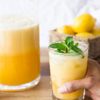 Tropical Peaches & Coconut Cream Lemonade