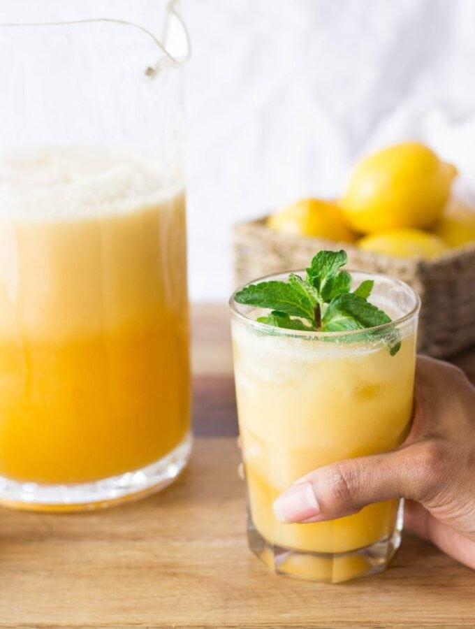 Tropical Peaches and Coconut Cream Lemonade
