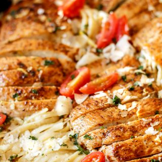 Spicy chicken cajun pasta with a creamy Parmesan sauce