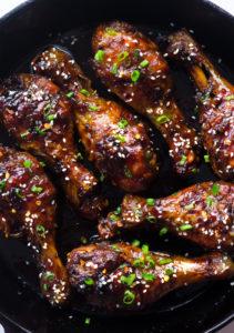Easy Teriyaki Baked Crispy Chicken Legs