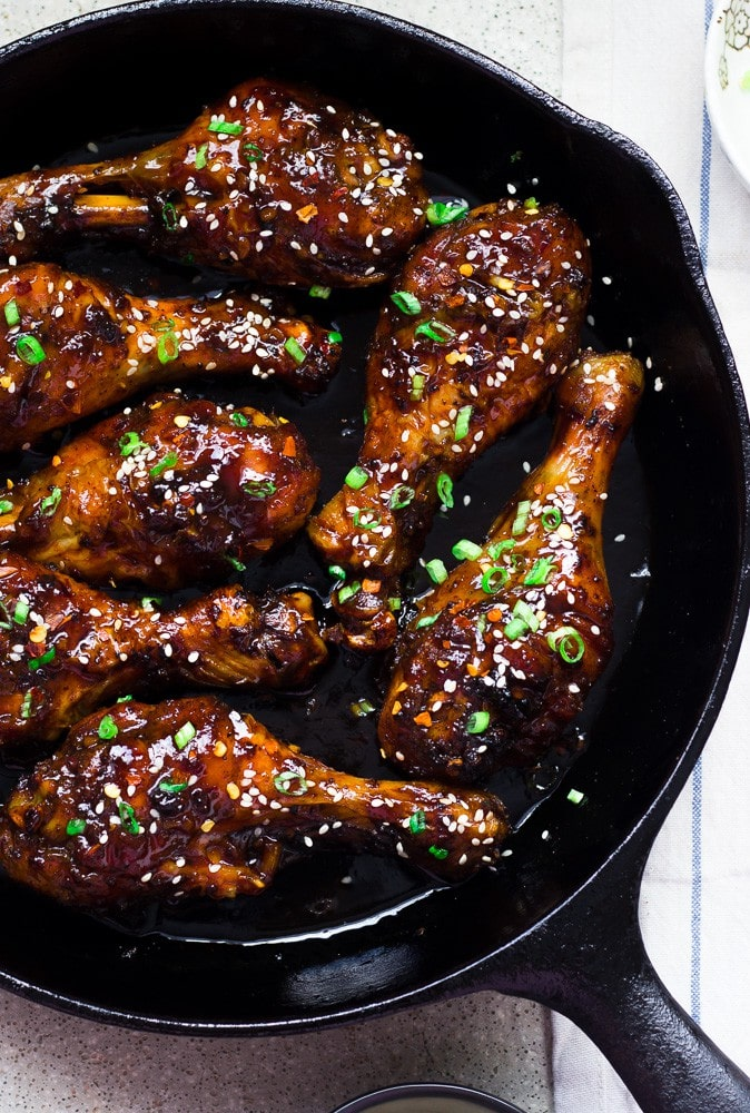 Easy Teriyaki Baked Crispy Chicken Legs