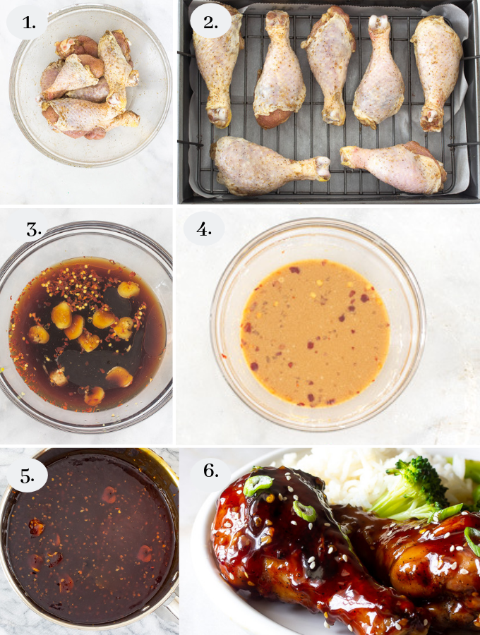 Easy Teriyaki Baked Chicken Legs step by step pictures