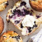 bakery style blueberry corn muffins