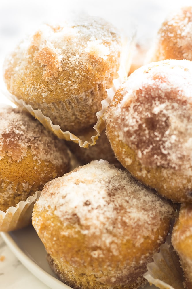 Simple cinnamon and sugar/snicker doodles donuts are great when you are craving donuts. These hot muffin donuts are brushed with melted butter then swirled in a cinnamon and sugar mixture then coated in only sugar. A perfect after dinner treat or a quite easy morning sweet!