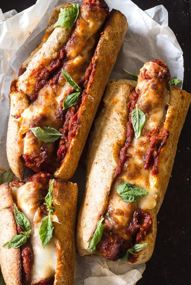Mozzarella Italian Sausage Sandwiches