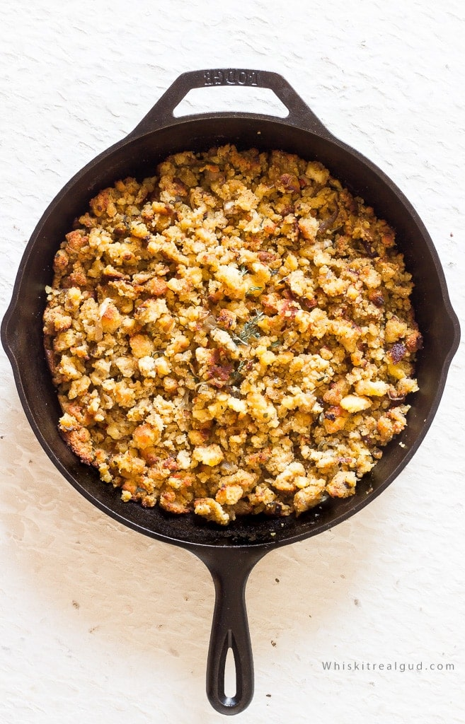 Caramelized Onion Cornbread Stuffing