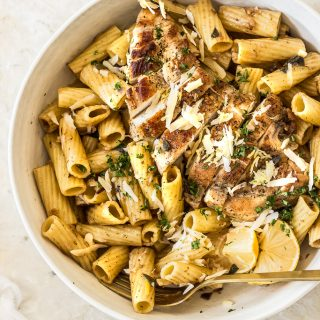 Sage Pasta with Parmesan and Chicken