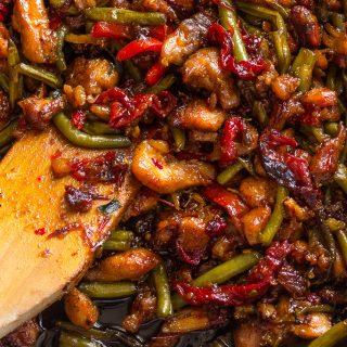 Garlicky Sweet Thai Chili Chicken and Green Bean Stir Fry
