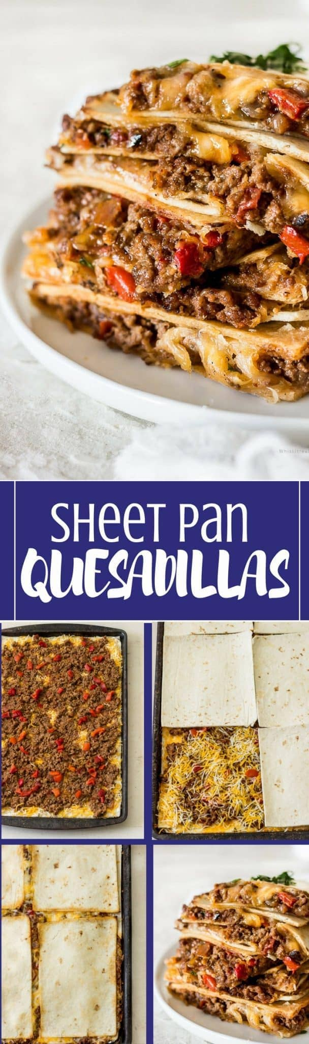 Quesadillas in the oven (Sheet Pan Quesadilla recipe)