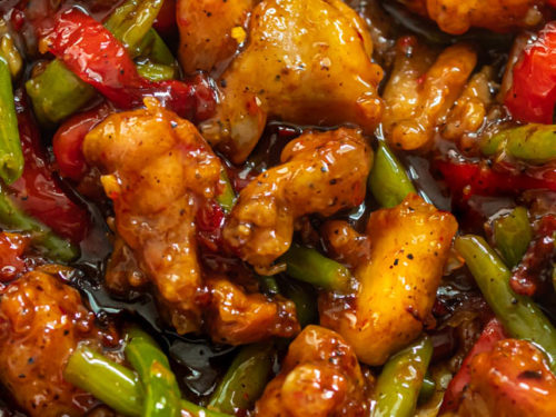 a picture of crispy chicken stir fry
