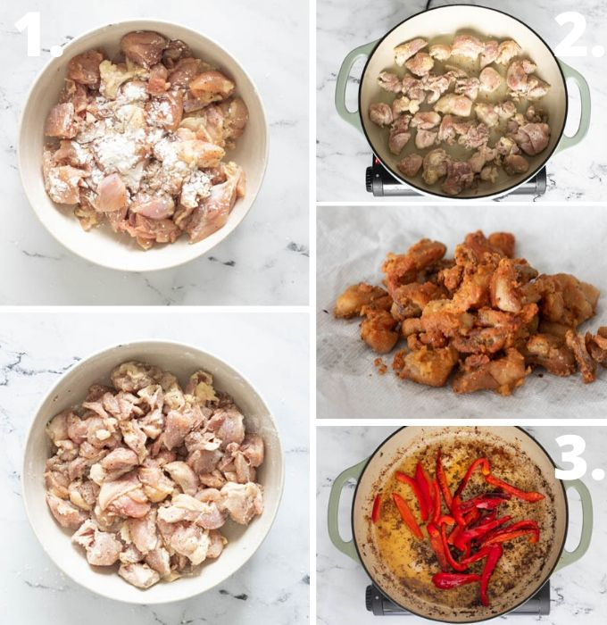 Sweet chili chicken step by step pictorial