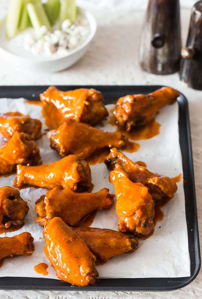 Buttermilk Crispy Baked Buffalo Wings