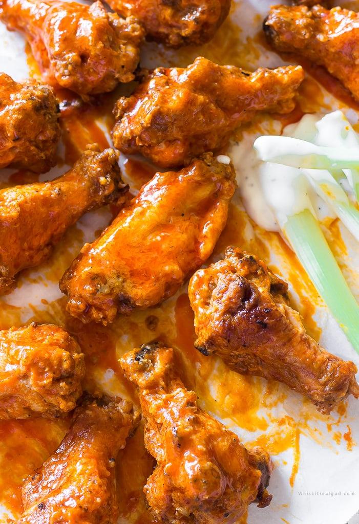 Buttermilk Crispy Baked Buffalo Wings
