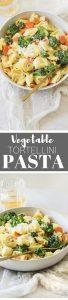 Vegetable Pasta & Garlic Butter Parmesan (Cheese Tortellini)