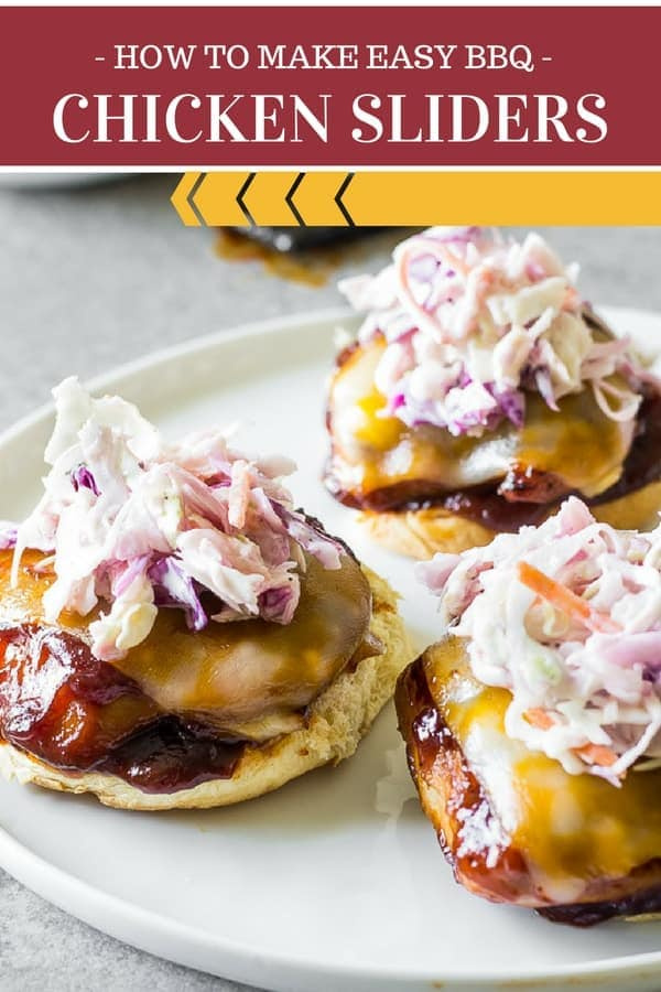 These best ever chicken sliders using chicken thighs with tangy BBQ sauce, melty Colbyjack cheese, and creamy buttermilk coleslaw is a perfect way to make use of chicken thighs. EASY BBQ chicken sliders that are perfect for dinner, tailgating, appetizers, couchgating. These crowd pleaser chicken sliders are easy to prepare and ready in 20 mins or less!