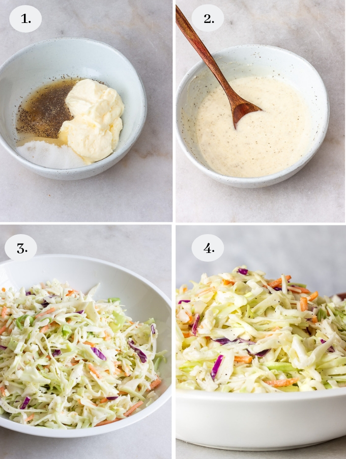 Southern Coleslaw recipe step by step