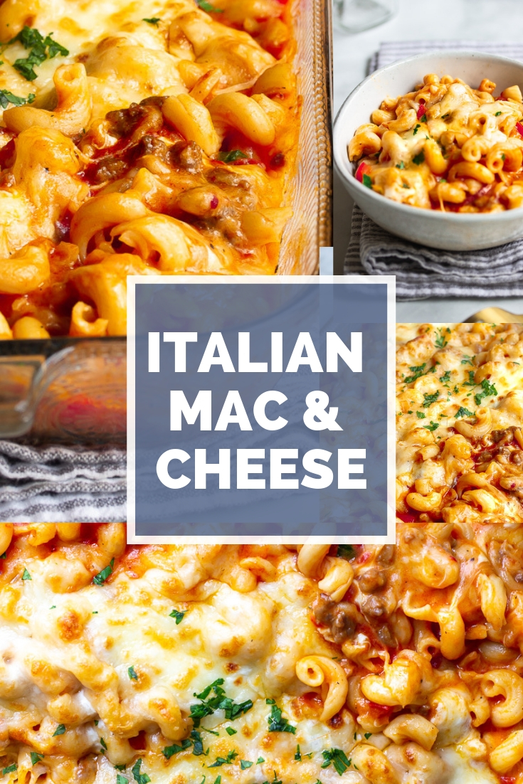 This Italian Mac and Cheese is incredibly delicious. Marinara sauce, sausage and oozing cheese are just some of the ingredients.