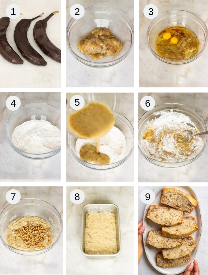 Banana bread recipe step by step pictorial