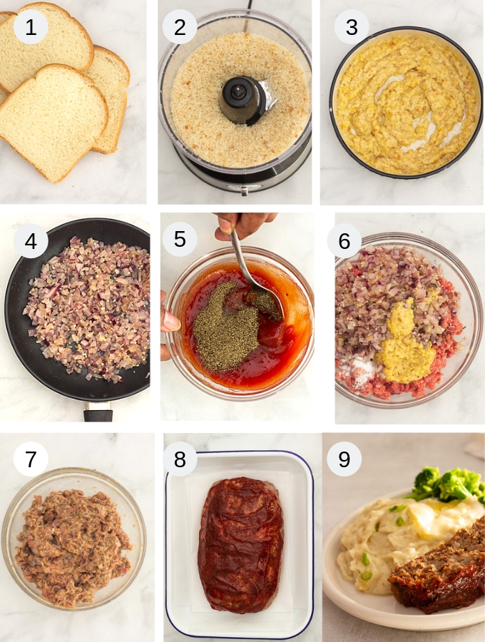 Meatloaf step by step recipe pictorial