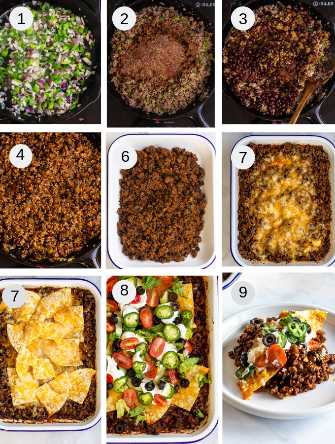 Step by step pics of taco casserole recipe