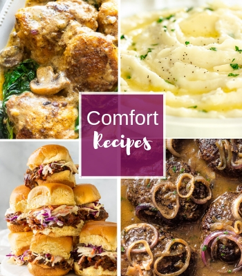 a recipe index of comfort food