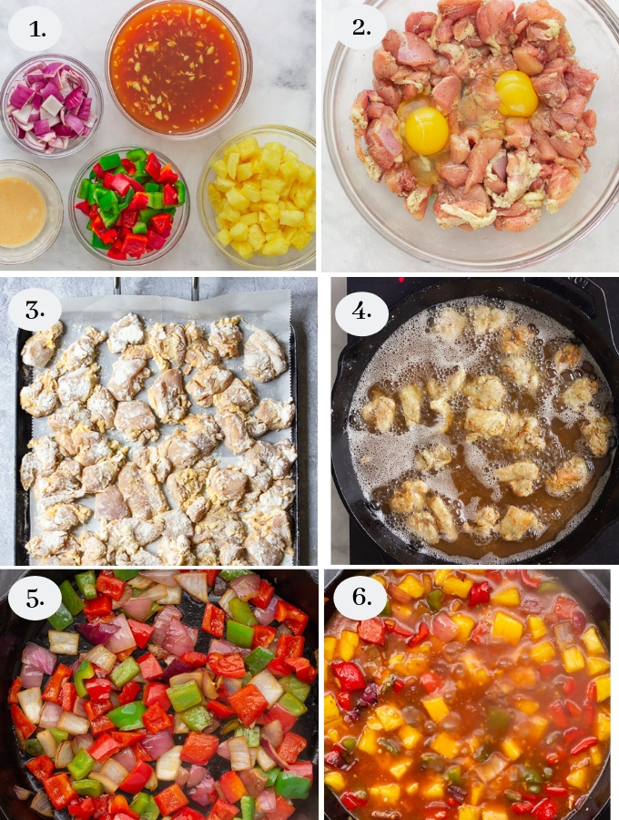 Step by step pics on how to make sweet and sour chicken