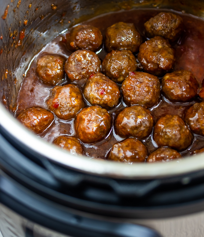 Jelly meatballs in an instant pot