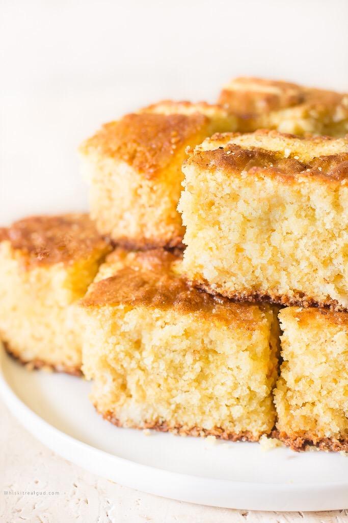 sweet cornbread on a plate