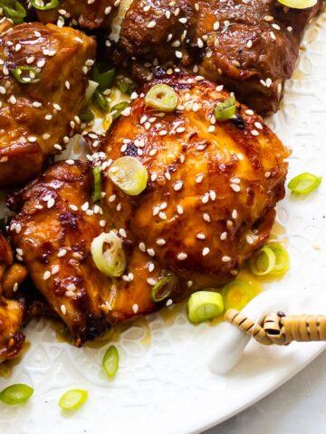 A plate of bulgogi chicken