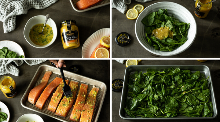 Photos of how to make cook honey mustard salmon in the oven