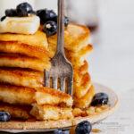 Sour Cream Crispy pancakes on plate