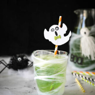 Halloween slime drink for kids in a cup